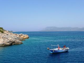 boat at the Mediterranean sea