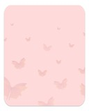 Pastel butterfly template poster