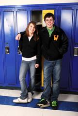 Teen Age School Couple