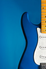 closeup blue guitar