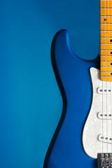closeup blue guitar