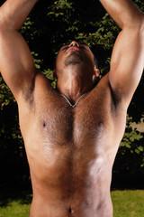 Abstract Bodybuilder Portrait