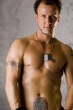 Shirtless Tattooed Guy poster
