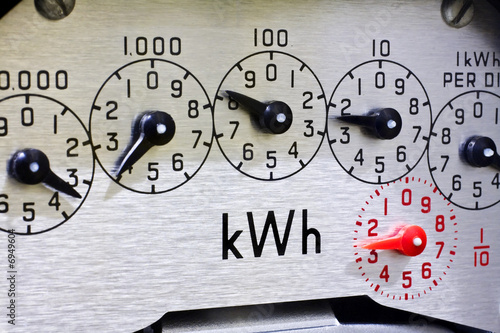 Leinwandbild Motiv Meter dials