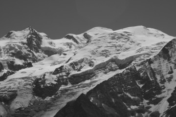 Le Mont Blanc vu de l'aiguillette des Houches