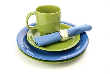 Green and Blue Tableware