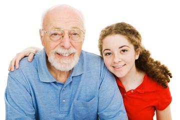 Girl and Her Grandpa