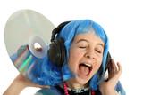 ado avec disque laser ecoute de la musique poster