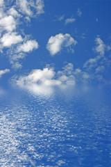 reflets de nuages
