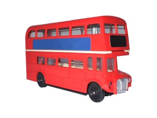 A Model of a Red London Double Decker Bus.