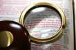 Bible's Golden Rule Under Old Magnifying Glass