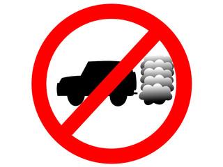 Panneau interdiction gros 4x4 polluants