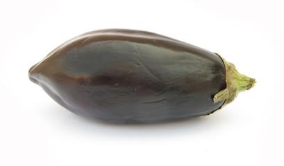 Aubergine eggplant isolated on white background