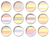 gradient lens buttons 2 poster