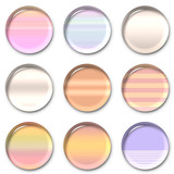 gradient lens buttons poster