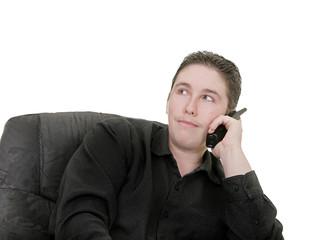 guy talking on phone