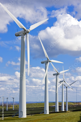 Windmills in windfarm