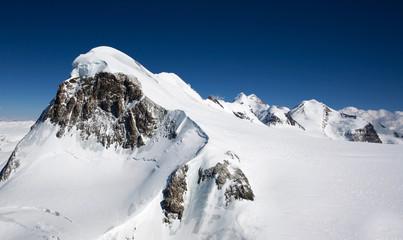 Peak in Alps. Top of the world