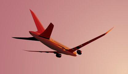 Vector Boeing-787 Dreamliner at sunrise