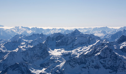Panorama of Swizz Alps.