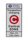 Congestion charging sign - London central zone poster