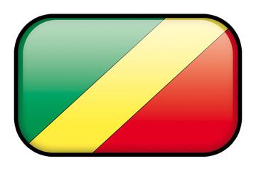 Bouton Drapeau du Congo , république