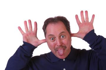 Man Sticking tongue out