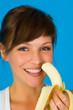 Girl mit Banane