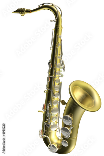 saxophone  3d illustration