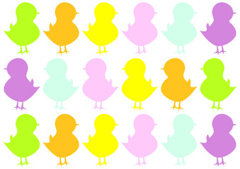 baby chicks pattern for nursery
