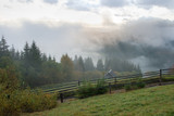 Dense fog in mountain