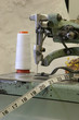sewing machine with a wedding dress background