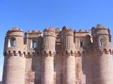 Vista del torreón del homenaje del Castillo de Coca (Segovia) poster