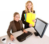 Two Beautiful Smiling Businesswomen poster