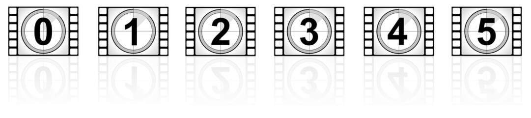 movie frames with numbers