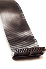 Black computer ribbon cable.