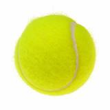 Tennis ball cutout poster