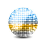 Mirrored disco ball poster