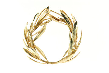 olive gold wreath