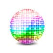 Leinwanddruck Bild - Disco ball illustration