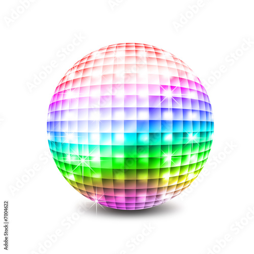 Leinwandbild Motiv Disco ball illustration