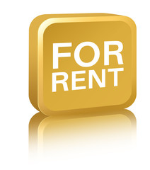 For Rent Sign - gold