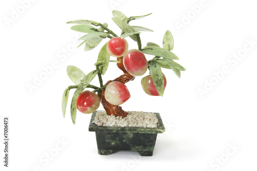 Peach Pot Plant Ornament