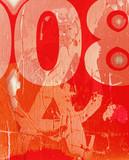 Grunge scratch wall poster