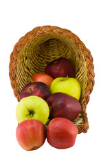 apple variety horn basket