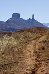 Single track motorcycle trail in Moab, Utah - American Southwest