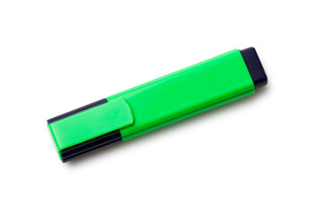 isolated green textmarker
