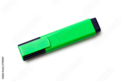 isolated green textmarker