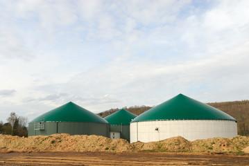 Modern biogas power plant