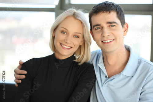 Young beautiful couple